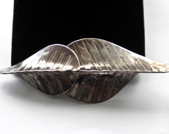 Marked PEARCE STERLING Modernist  Artisan  vintage Silver 925 Brooch Pin  1970s