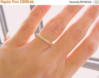 SALE - 2mm gold ring, Full eternity ring, Diamonds band, CZ diamond thin ring, Full round ring, Wedding engagement ring, Gold ring, Stackabl