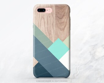 iPhone 7 Case Wood Geometric iPhone 7 Plus iPhone 6s Case iPhone SE Case iPhone 6 Case iPhone 5 Case Galaxy S7 Case Galaxy S8 Plus Case T206