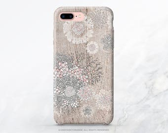 iPhone 8 Case iPhone X Case iPhone 7 Case Wood Floral iPhone 7 Plus iPhone 6s Case iPhone SE Case Galaxy S8 Case Galaxy S8 Plus Case I14d