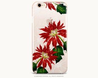 iPhone 8 Case Poinsettia iPhone X Case iPhone 7 Case Clear GRIP Rubber Case iPhone 7 Plus Case iPhone SE Case Samsung S8 Plus Case U315