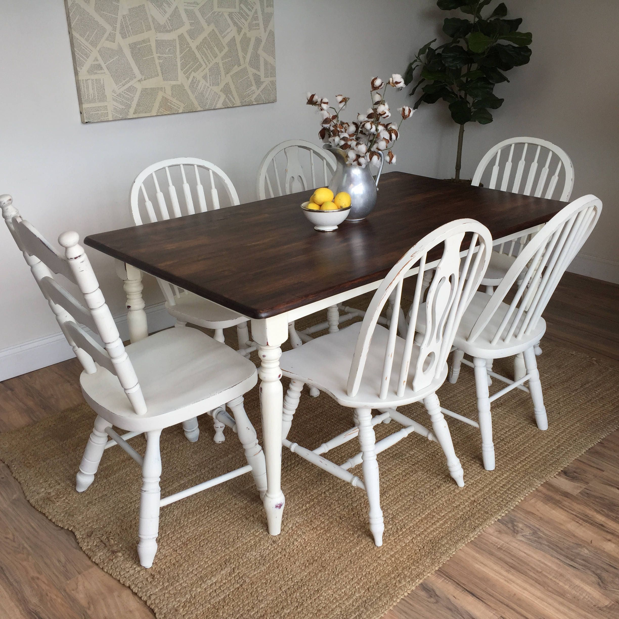 Distressed kitchen table small white dining table for Distressed white dining table