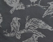 Black Raven Fabric, Hoffman Fabrics, Batik, Alaska, Cotton Fabric By The Yard, Fat Quarter, Quilting Fabric, Bird Fabric, Sewing Supply