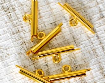 15mm Miyuki Gold Slider Tube for Bead Loom Weaving Delica Beads -4961- 15mm Gold Slide Tube for Delica Bead Loom Weaving