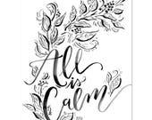 All is Calm - Print