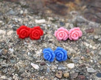 Druzy Stud Earrings | Titanium Earrings | Druzy Earrings | Druzy Studs | Hypoallergenic Studs | Flower Earrings | Druzy Jewelry
