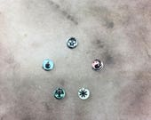 MTG game markers pieces glass tiles RPG roleplaying tokens counters