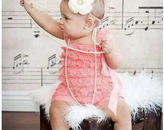 Lace Romper | Baby Girl Romper | Baby Lace Romper | Girl Romper | Ruffle Lace Romper | Ruffle Romper | Baby Romper | Baby Ruffle Romper