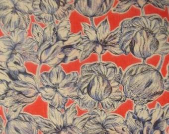 Matilda tulip - red - Liberty London tana lawn fabric