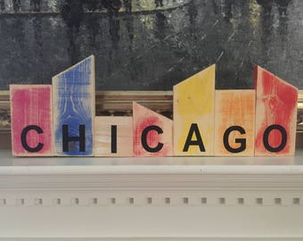 Wooden Chicago Sign