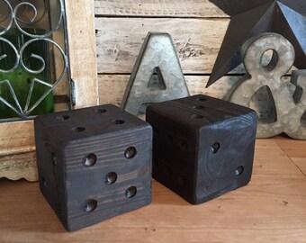 Wooden Block Dice