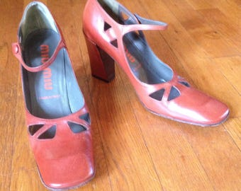 SALE Genuine Mui Mui Leather Mary Janes - Size 7