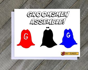 Be My Groomsmen Card, Ask Groomsmen Card, Groomsmen Proposal, Superhero Groomsmen Proposal, Wedding Party Card, Funny Groomsmen Card, Bridal