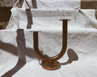 Bent Copper U Candlestick
