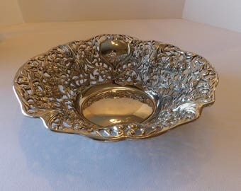 Ornate Silver Plate Bowl