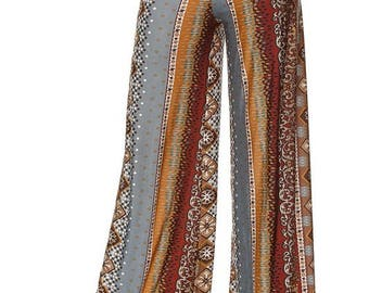 HIGH WAIST PALAZZO Pants, High waisted fold over waistband, Wide leg pants,