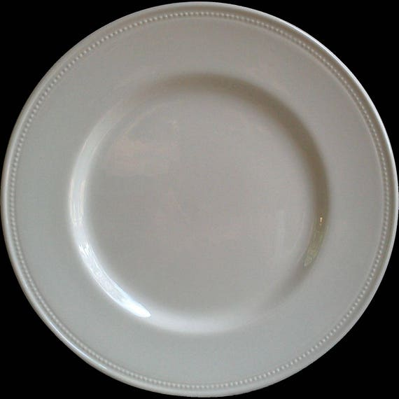 """White Earthenware Plate, Charger or Dinner Plate, White China Plate, Charger Plate, Royal Stafford, French Country Plate, White China 11"""""""