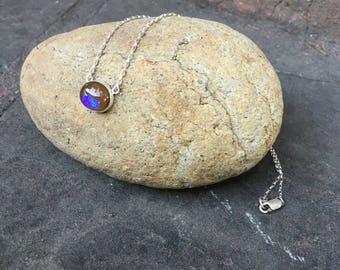 Fusion Glass Opal Choker
