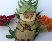 Huggles the bug hugging gnome, wooden Waldorf doll, wooden gnome, gnome home doll, pretend play, dollhouse gnome, Wooden Waldorf Toy