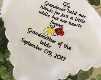 Grandma grandmother wedding gift hankie