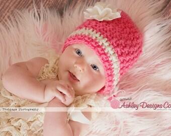 Crochet Pattern Tropical Twist Beanie (Newborn - Adult) - PDF - Instant Digital Download