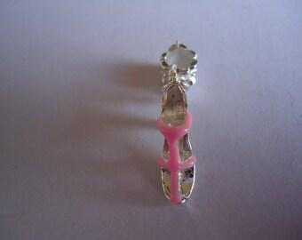 Pink heel sandal charm pendant