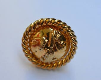 Authentic  Salvatore Ferragamo Scarf Ring Vintage