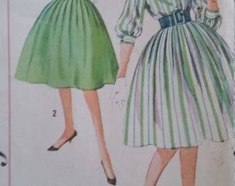 Vintage Simplicity Sewing Pattern Size 12 Bust 32 Dress and Cumberland