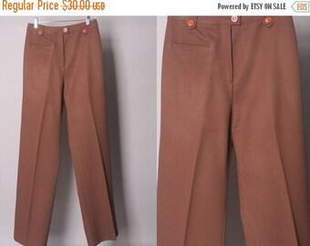 40% SALE Vintage 1970's Pants || High Waist Straight Leg Pants || 26 inch waist  (xs - small)