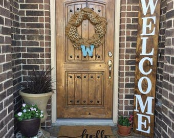 Wooden Welcome Sign, Welcome Sign, Wooden Sign, Vertical Welcome Sign, Vertical Sign, Vertical Wooden Sign, Welcome Home Sign