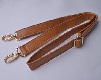 1pcs 41''-47'' Soft Brown Purses Straps,Fuax leather Adjustable bag straps,Replacement Cross Body Purse Straps,Soft leather straps wt0338