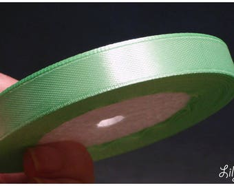 1 meter of Ribbon green Satin with water 12mm