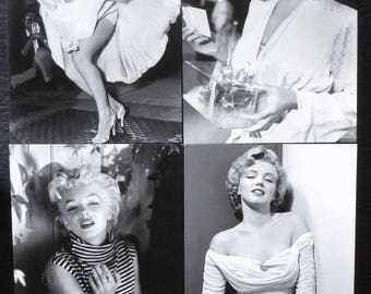 "Postcard style retro vintage women pinup marilyn ""model 7"" x 1"