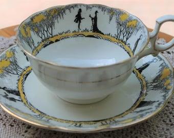 STAR PARAGON Fine Bone China Teacup and Saucer Set c.1923