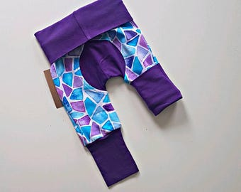 Mosaic bootie pants//Grow with me pants //Maxaloones