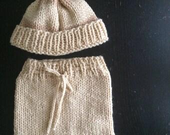 Newborn hat & diaper cover