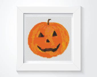 Cross Stitch Kit, Mr Pumpkin Cross Stitch, Holiday Cross Stitch, Embroidery Kit, Art Cross Stitch, Halloween Cross Stitch (TAS138)
