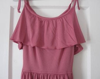 Sale! Pink Long Vintage Dress