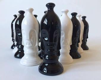 Mid-Century Modern Chess Piece Set