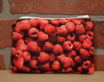 One Snack Sack, Reusable Lunch Bag, Waste-Free Lunch, Machine Washable, Raspberries, Back to School, School Lunch, item #SS86
