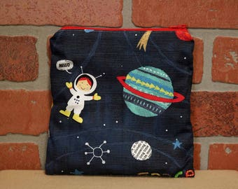 One Sandwich Bag, Reusable Lunch Bags, Waste-Free Lunch, Machine Washable, Space, Sandwich Sacks, item #SS76