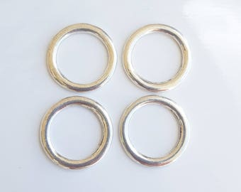 Silver spacer 4 20mm donut shaped