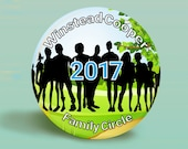 Custom Order 2, 140 Family Reunion 2.25 Inch Round Button MAGNETS, Reserved For Anissa Cosby