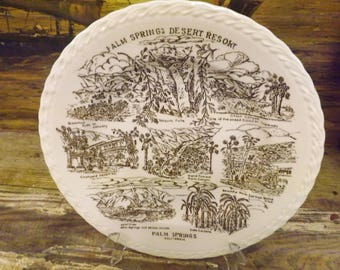 Palm Springs Souvenir Plate Palm Springs Desert Resort California