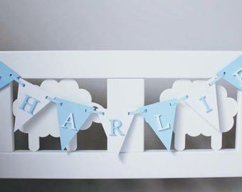 Wooden Triangle Bunting/New baby gift/baby nursery/personalised christening gift