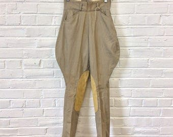 Vintage 1950s Women's NOS Cotton Twill Riding Breeches Jodhpurs. Marked Size 26