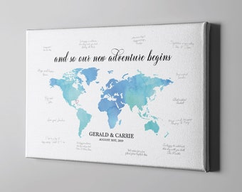 World map guest book etsy gumiabroncs Choice Image