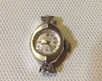 Antique 14K White Gold HAMILTON Rhapsody Royale 21J DIAMOND Watch 1.31.1