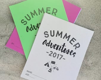 Summer Adventures Scrapbook for kids