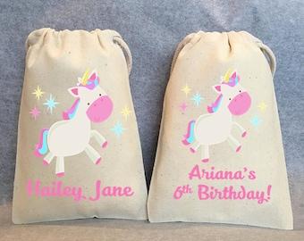 "20- Unicorn Party, Unicorn Birthday, unicorn party favors, Unicorn bags, Unicorn favor bags, Unicorn party favor bags, Unicorn bag, 5""x8"""